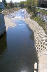 AFTER: This image shows after (2006) the dredging was completed, looking from the same point off the Elm Street bridge.